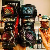 Обувь ручной работы handmade. Livemaster - original item painted shoes. Star Wars Mandalorian Sneakers. Custom sneakers.. Handmade.