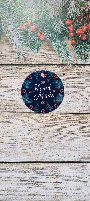 """Шильдик на подарок """" Hand made""""  6,5 ×6.5 см, Открытки, Хотьково,  Фото №1"""