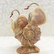 Винтаж handmade. Livemaster - original item Souvenir of the USSR Swans Shells. Handmade.