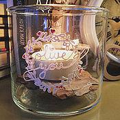 Для дома и интерьера ручной работы. Ярмарка Мастеров - ручная работа Малая ваза с любой надписью / 10х10 см. Handmade.