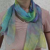 Аксессуары handmade. Livemaster - original item Summer silk scarf,45h160cm, hand painted. Handmade.