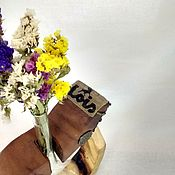 Для дома и интерьера ручной работы. Ярмарка Мастеров - ручная работа Лофт-ваза для одного цветка. Handmade.