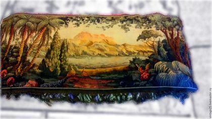 Винтажные предметы интерьера. Ярмарка Мастеров - ручная работа. Купить Винтажный коврик гобелен 70 е годы. Handmade. Комбинированный