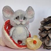 """Украшения ручной работы. Ярмарка Мастеров - ручная работа """"Пуп"""" мышонок-брошь. Handmade."""