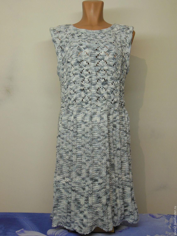 Платья ручной работы. Ярмарка Мастеров - ручная работа. Купить Платье. Handmade. Лето, спицами, комбинированный