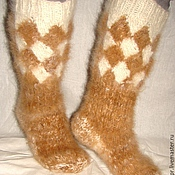 Аксессуары handmade. Livemaster - original item Socks TAYGA mens dog hair. Handmade.