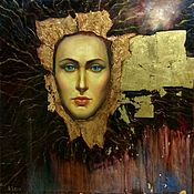 Картины и панно handmade. Livemaster - original item Snake woman from another dimension a giant oil painting. Handmade.