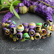 Jewelry Sets handmade. Livemaster - original item Necklace with buds made of polymer clay