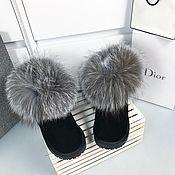 Обувь ручной работы handmade. Livemaster - original item Ugg boots with silver Fox fur. Handmade.