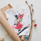 Работы для детей, handmade. Livemaster - original item Children`s t shirt Minnie mouse. Handmade.