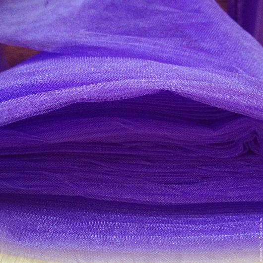 """Шитье ручной работы. Ярмарка Мастеров - ручная работа. Купить фатин """"ирис"""" сине-фиолетовый. Handmade. Фатин оранжевый светлый"""