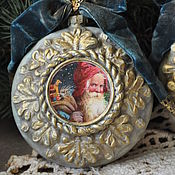 Подарки к праздникам handmade. Livemaster - original item Christmas decorations-medallions. Handmade.