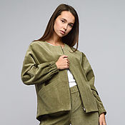Одежда handmade. Livemaster - original item Short jacket corduroy color