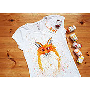Одежда handmade. Livemaster - original item T-shirt with hand painted