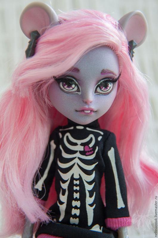 Коллекционные куклы ручной работы. Ярмарка Мастеров - ручная работа. Купить ООАК Мауседес Кинг Хейли. Handmade. Розовый, мышь
