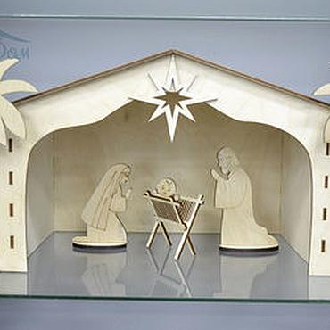 Куклы и игрушки ручной работы. Ярмарка Мастеров - ручная работа Вертеп рождественский (большой). Handmade.