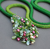 Lariats handmade. Livemaster - original item Beaded Lariat berries. Handmade.