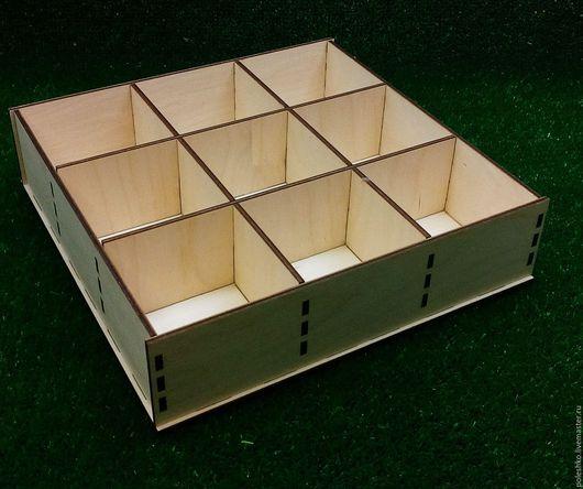 Органайзеры для рукоделия ручной работы. Ярмарка Мастеров - ручная работа. Купить Коробка многосекционная. Handmade. Желтый, коробка из дерева