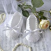 Работы для детей, handmade. Livemaster - original item Baptismal shoes