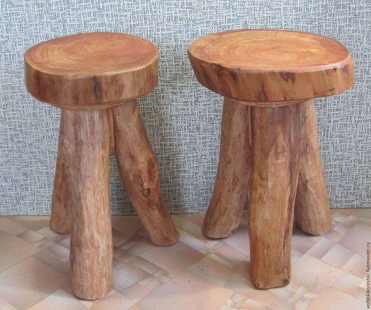 Мебель ручной работы. Ярмарка Мастеров - ручная работа. Купить табуретка , табурет, подставка. Handmade. Рыжий, табуретка из дерева