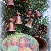 Подарки к праздникам ручной работы. Ярмарка Мастеров - ручная работа Набор Винтажные ангелы. Handmade.