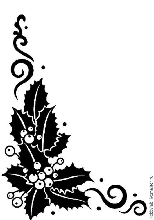 Открытки и скрапбукинг ручной работы. Ярмарка Мастеров - ручная работа. Купить Форма для эмбоссирования Веточки падуба. Handmade. Папка для тиснения