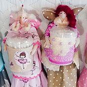 Куклы Тильда ручной работы. Ярмарка Мастеров - ручная работа Куклы Тильда: Хранительница ватных дисков и палочек. Handmade.