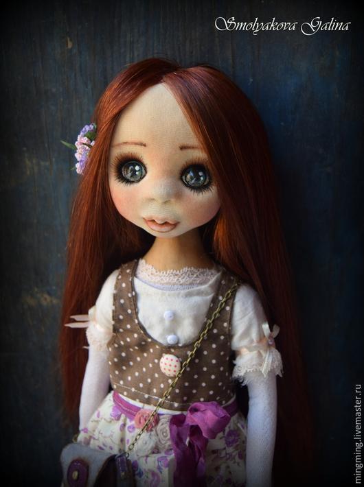 Коллекционные куклы ручной работы. Ярмарка Мастеров - ручная работа. Купить Galateya. Handmade. Брусничный, бохо-стиль, кожа натуральная