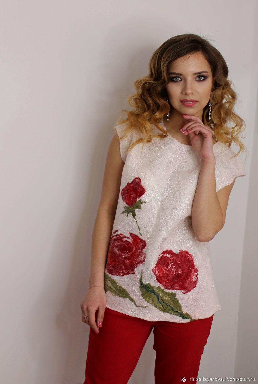 Felted blouse 'Rose', Blouses, Verhneuralsk,  Фото №1