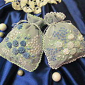 Для дома и интерьера handmade. Livemaster - original item pouches, sachets blue roses