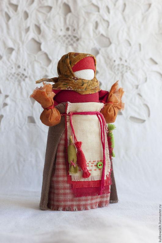 Народные куклы ручной работы. Ярмарка Мастеров - ручная работа. Купить Кукла народная Детская утешница. Handmade. Бордовый, пуговка
