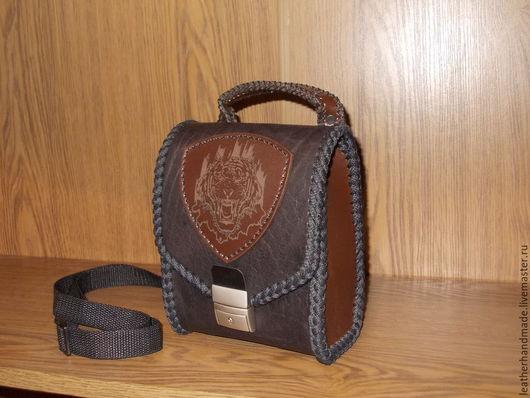 Мужские сумки ручной работы. Ярмарка Мастеров - ручная работа. Купить Сумка из натуральной кожи. Handmade. Сумка, сумка кожаная