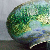 """Посуда ручной работы. Ярмарка Мастеров - ручная работа Керамическая чаша ручной работы - """"Перо павлина"""". Handmade."""
