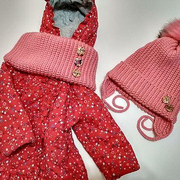 Одежда ручной работы. Ярмарка Мастеров - ручная работа Шапки: Комплект Шапка+ Снуд. Handmade.