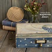 """Для дома и интерьера ручной работы. Ярмарка Мастеров - ручная работа Короб """"Черничные холмы"""". Handmade."""