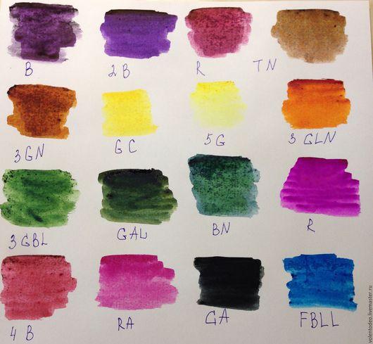 Другие виды рукоделия ручной работы. Ярмарка Мастеров - ручная работа. Купить Сухие японские краски для ткани. Handmade. Разноцветный