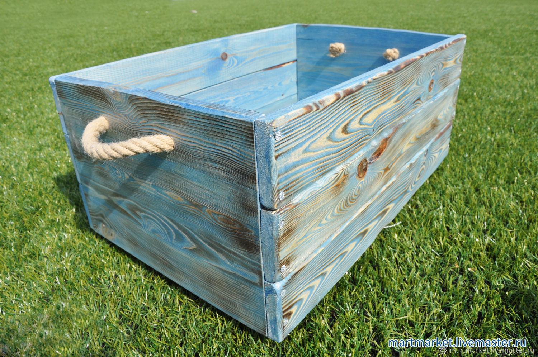 Купить деревянный ящик для игрушек на колёсиках. Ящик для игрушек, для цветов, для книг, для вещей, для кухни. Декоративный ящик из дерева.
