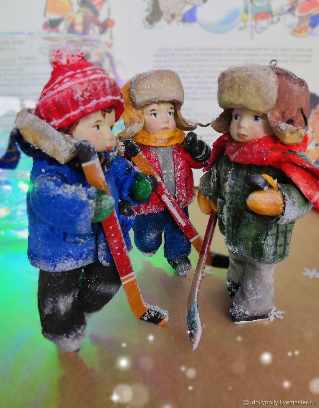 Братья-хоккеисты, Елочные игрушки, Москва,  Фото №1