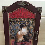 """Ключницы ручной работы. Ярмарка Мастеров - ручная работа Ключница """"Кошка"""". Handmade."""