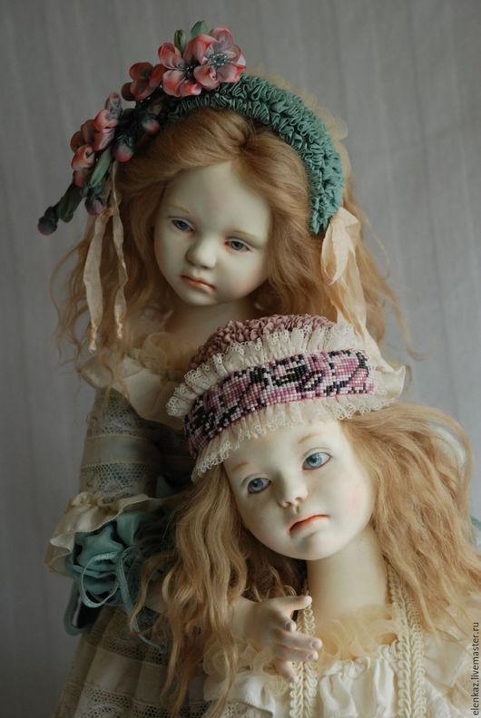 Коллекционные куклы ручной работы. Ярмарка Мастеров - ручная работа. Купить СОФИЯ  и СОЛОМИЯ. Handmade. Бежевый, розовый, кукла интерьерная