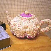 """Декор в стиле Тильда ручной работы. Ярмарка Мастеров - ручная работа Текстильный чайник """"Гвоздички"""". Handmade."""