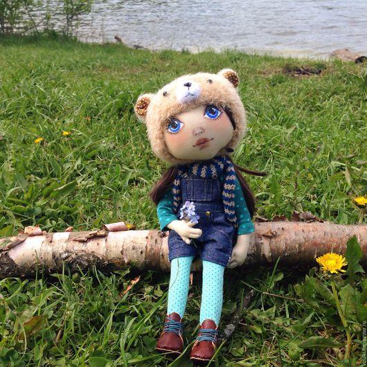 Коллекционные куклы ручной работы. Ярмарка Мастеров - ручная работа. Купить Полина, текстильная кукла. Handmade. Кукла, кукла интерьерная