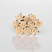 Цветы искусственные ручной работы. Ярмарка Мастеров - ручная работа Розочки 1 см, 5 шт. Handmade.