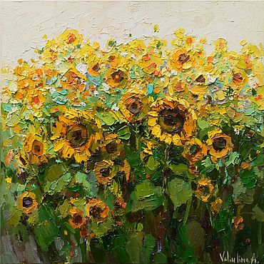 Pictures and panels handmade. Livemaster - original item Sunflowers Original Oil painting. Handmade.