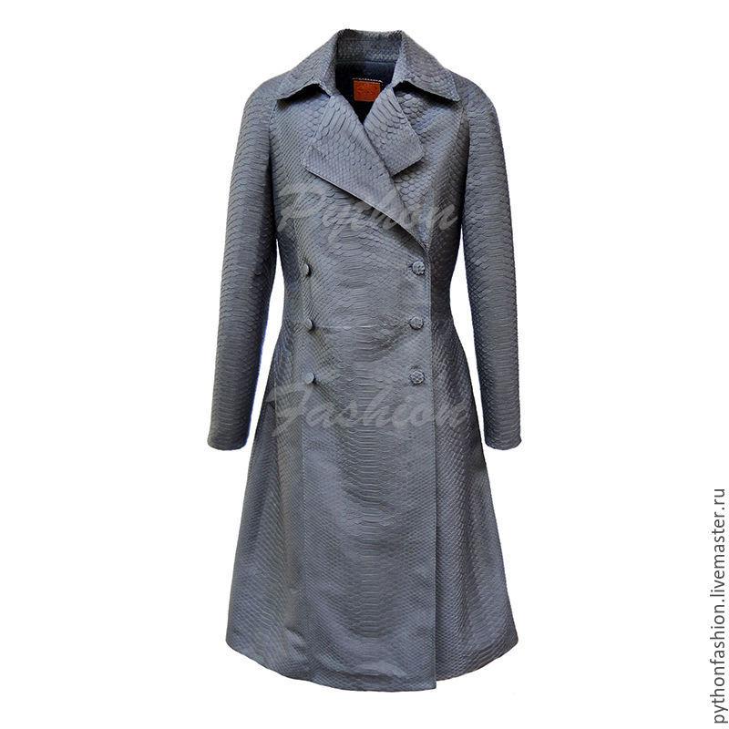 3034e33885b Пальто из питона. Дизайнерское демисезонное пальто из питона. Женское  двубортное пальто из питона на ...