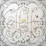 Картины и панно ручной работы. Ярмарка Мастеров - ручная работа Свадебная монограмма. Handmade.