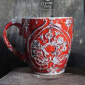 """Посуда ручной работы. Ярмарка Мастеров - ручная работа Кружка """"Красный бархат"""". Handmade."""