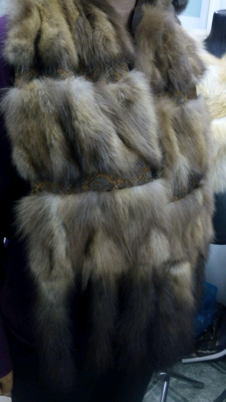 Шарфы и шарфики ручной работы. Ярмарка Мастеров - ручная работа. Купить Шикарный шарф из меха соболя. Handmade.