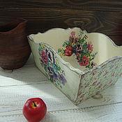 """Для дома и интерьера ручной работы. Ярмарка Мастеров - ручная работа короб   """" маргаритки"""". Handmade."""