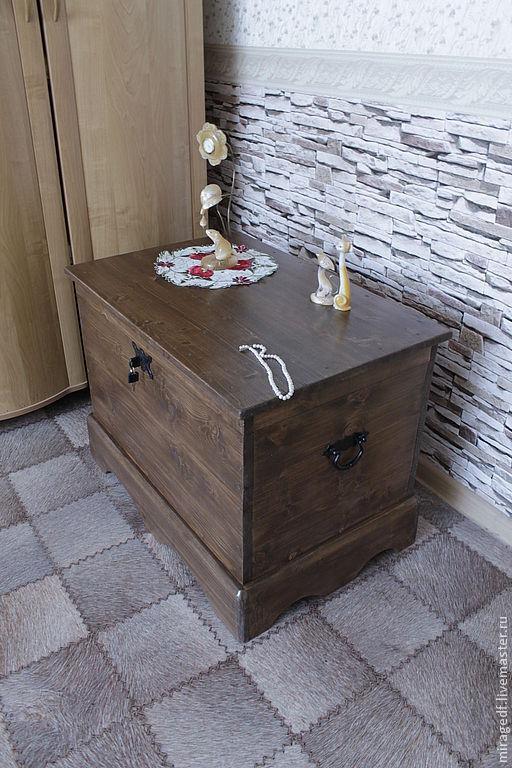 """Мебель ручной работы. Ярмарка Мастеров - ручная работа. Купить Сундук """"Хранитель традиций"""". Handmade. Коричневый, дача, из дерева"""